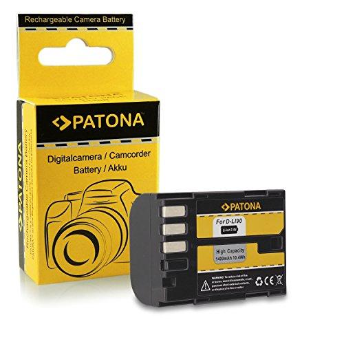 Batería D-Li90 DLi90 para Pentax 645D | K-01 | K-5 | K-5 II | K-5 Iis | K-7 y mucho más… [ Li-ion; 1400mAh; 7.2V ]