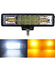 Adanse 48W Strobe Flash Werk Licht Led Light Bar Wit Geel Voor Offroad 4X4 Atv Suv Motorfiets Truck Trailer Auto Accessoires 12V