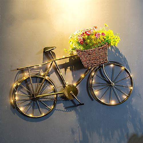 QBZS-YJ Viento Industrial Bicicleta Decoración de La Pared Bar Decoración Colgante de Hierro Bicicleta Restaurante Decoración (Color : C)