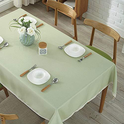 DJUX espesar fruta verde Hotel mantel occidental restaurante redondo mantel de exposición mantel de tela de fiesta mantel picnic al aire libre tela