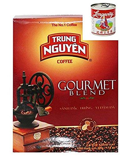 Trung Nguyen Vietnam Kaffee gemahlen Gourmet Blend 500g + 397g Kondesmilch