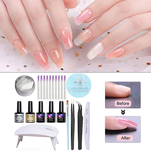 Fiberglass Nail Kit Fiber Nails Extension For Nail Building Quick Extension Nails Phototherapy Extended Glue Acrylic Tips Manicure Salon Tool Set