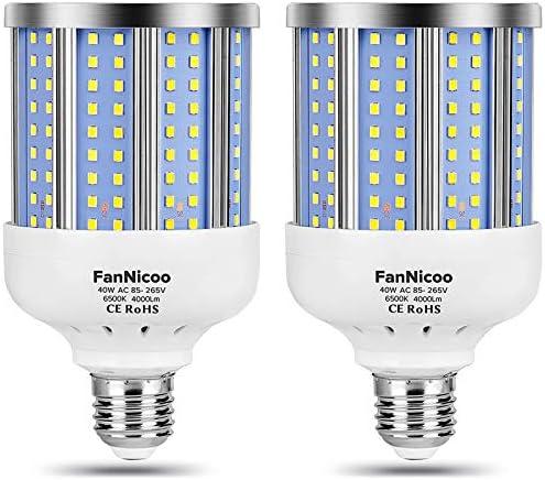 2 Pack 280W Equivalent LED Corn Light Bulb 4000 Lumen 6500K Cool White Daylight 40W LED Corn product image