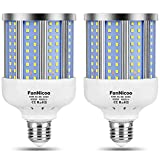 2 Pack 280W Equivalent LED Corn Light Bulb, 4000 Lumen 6500K Cool White Daylight 40W LED Corn Lamp,E26/E27 Medium Base,for Indoor Outdoor Warehouse Garage Basement Backyard Factory Barn and Many Area
