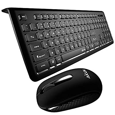 Wireless Keyboard and Mouse Combo, with104-Key ...