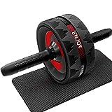 JiangGuiFei Entrenador De Abdominales Power Roll Equipo De Gimnasio En Casa Fitness Ejercitador Adelgazante De La Cintura N/úcleo De Doble Rueda Fitness