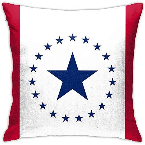 Mississippi Vlag Sinds 2017 Kussen 18Inch*18Inch, Kussen Kussensloop Decoratieve Vierkante Slaapbank Slaapkamer Auto - Geen Inserts Inbegrepen