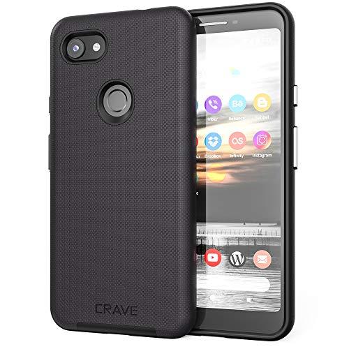 Pixel 3a XL Case, Crave Dual Guard Protection Series Case for Google Pixel 3a XL - Black