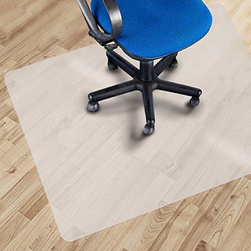 OfficeMarshal Alfombrilla Protectora - Estera para Silla de Oficina | Protector Suelo Semi-Transparente | Polipropileno | Varios tamaños (75x120 cm)