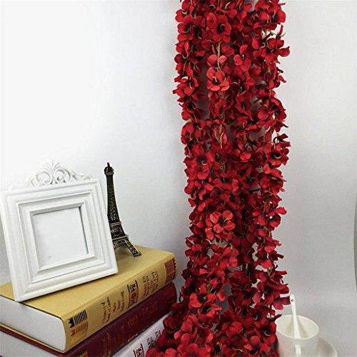 Super1798 - Guirnalda de flores artificiales para colgar, diseño floral