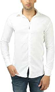 Plain White Casual Shirt 100% Cotton For Casual Wear And Daily Wear