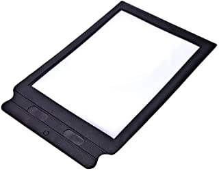 Fine A4 Magnifier,Full Page Large Sheet Magnifying Glass Reading Aid Lens Reading Magnifier 3X Magnification for The Elderly