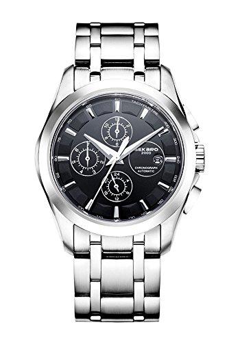 Preisvergleich Produktbild SEKARO Herren-Armbanduhr, Monat / Kalender / Woche / 24 Stunden Wasserdicht Leuchtende Nacht 316L Edelstahl Mechanische Uhren Uhr