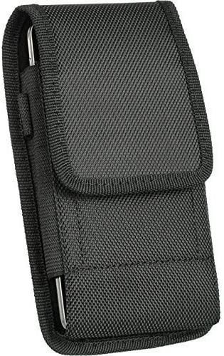 Samsung Galaxy S5 , Galaxy S6 , S6 EDGE , S7 , S8 , S9 , Vertical Tough Nylon Pouch Holster Fits Galaxy S5 , S6 , S6 EDGE , S7 , S8 , S9 , Otterbox Defender / Mophie Juice Pack / Lifeproof protective case on