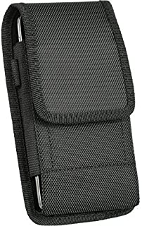 For Samsung Galaxy Galaxy S9 Plus , Galaxy S8 Plus , S7 Edge Plus,Galaxy Note Edge, NOTE 5, NOTE 4 , NOTE 3 , NOTE 2 , Black Vertical Clip Holster Pouch Rugged Nylon Flap Case Steel Metal Belt Clip + Carabiner Hook