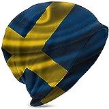 Peeeenny Beeen Unisex Hombres Mujeres Suecia Bandera Sueca Niños Niño Niña Reloj de Punto de Invierno Sombrero Suave y Acogedor Gorro de Moda Gorro Negro
