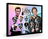 Johnny Hallyday Guitare encadrée Pick plectre Framed Display