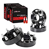 Richeer 4 PCS 1.5 inch 6x5.5 Hubcentric Wheel Spacers 14x1.5 Studs & 78.1mm Bore Compatible with Tahoe Silverado 1500 Avalanche Sierra Yukon