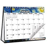 CRANBURY Small Desk Calendar 2021 - (Impressions, 8x6'), Cute Flip Calendar 2021 with Premium Thick Paper, Stand Up Calendar, Bonus Planner Stickers Included