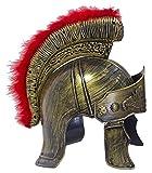 Das Kostümland Römer Helm mit Visier und Federbesatz - Zum Gladiatoren Kostüm für Party und...