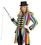 shoperama Hochwertige Rainbow Damen Uniformjacke Regenbogen Gardeuniform Gehrock Jacke Mantel Frack Karneval Kostüm, Größe:S