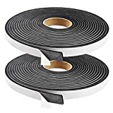 High Density Foam Seal Tape Weatherstrip for Door and Window Insulation,12.5mm(W) x3mm(T) Single Sided Foam Strips Adhesive,2 Rolls Total 10M Long