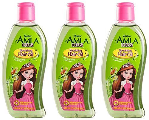 Dabur Amla Kids 200ml Haaröl für Kinder Haarpflegeöl kräftiges Weiches Haar Haarpflege (200ml x3)