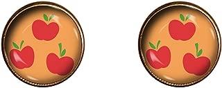Applejack Earrings 10mm Friendship is Magic My Little Pony Handmade Jewelry Gift Charm