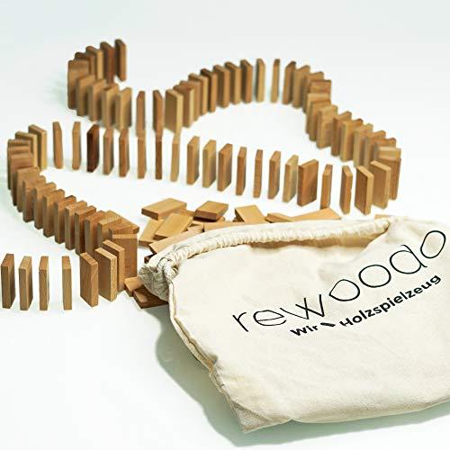 rewoodo Juego de dominó (incluye bolsa de algodón con aceite de nogal)