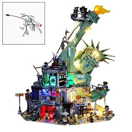 YLJJ Set di luci LED USB Fai-da-Te Compatibile con Lego 70840, Kit di luci a LED per (Movie 2 Welcome to Apocalypseburg) Building Blocks Modello Bambini Regali di Natale (Non Incluso Il Modello)