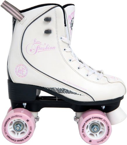 KRF Retro Fashion Pph - Patines en Paralelo, Color Blanco, Talla 37