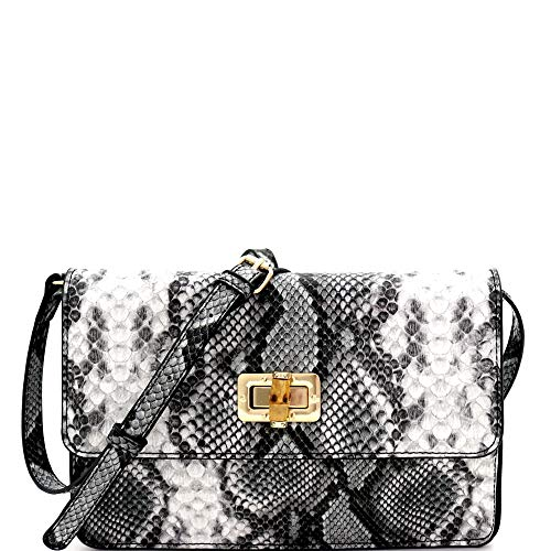 """Square Style - Dimensions - 7.5""""L x 2.5""""W x 6""""H/ Chain shoulder strap/ Faux-leather material/ Gold-tone hardware/ Closure - flap with push-lock/ Whole Flap Style - Dimensions - 7""""L x 2.75""""W x 4.75""""H/ Chain shoulder strap/ Faux-leather material/ Hemat..."""