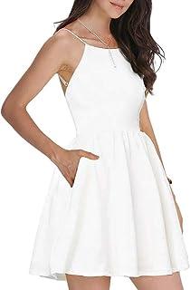 finest selection 9e19b d0720 Suchergebnis auf Amazon.de für: weißes kleid kurz: Bekleidung