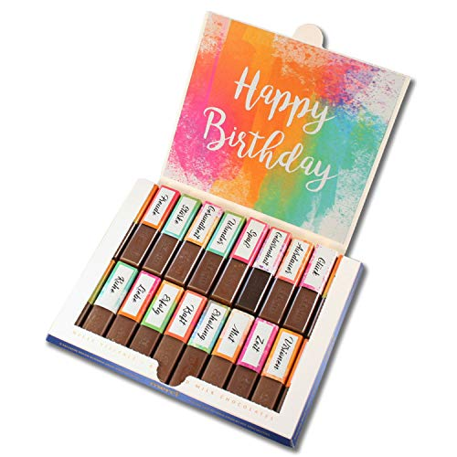 Aufkleber-Set passend für Merci Schokolade zum Geburtstag mit vorgedruckten und blanko Aufklebern I bunt I selbstklebend I kreative Geschenk-Idee I Individuell I ohne Schokolade I dv_913