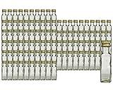 hocz Glasflaschen Set mit Schraubverschluss Gold   Füllmenge 100 ml   Maras Saftflaschen Spirituosen Likörflaschen Setzen Sie ganz einfach Ihr eigenes Öl an (100 Stück)