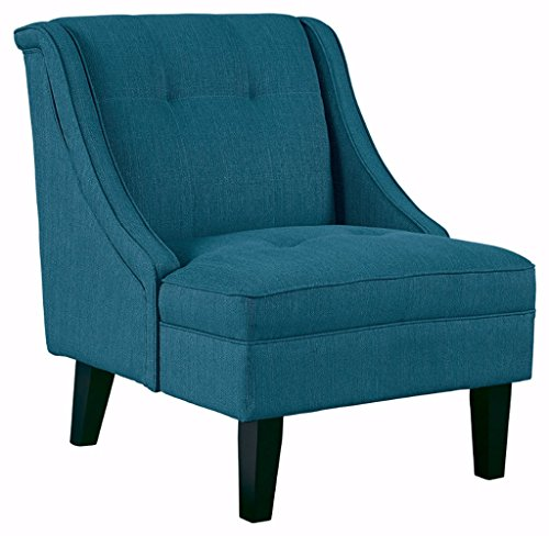 Signature Design by Ashley Clarinda Upholstered Tufted Wingback Accent Chair, Blue