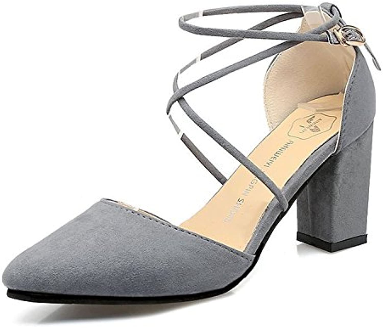 Fashionable high Heel Sandals, Summer, New Sharp Pointed, Thick and Comfortable Women's shoes.