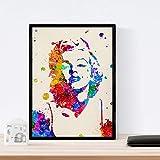 Nacnic Lámina para enmarcar Marilyn Monroe Laminas Decorativas para Pared. Laminas Estilo Acuarela. Regalo Creativo para Chica. Papel 250 Gramos
