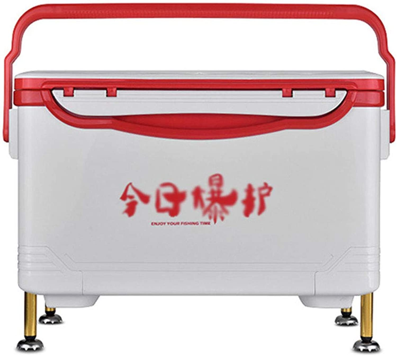 Angelausrüstung Fishing Box Heben Fu Fishing Box Angelgert Boxen Aufbewahrungsbox Multifunktions Angeln Box 34 Liter Kapazitt Geschenk (Farbe   rot, Größe   58  31.5  36cm)
