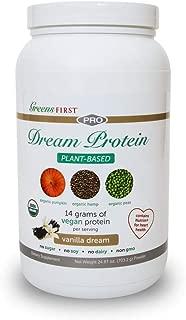 Greens First® Dream Protein Plant Based – USDA Organic Dietary Supplement – Vegan Protein Powder – Nutritional
