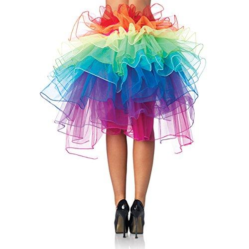PIXNOR Bustle Skirt Women's Layered Dancing Long Tail Skirt Lingerie Bubble Skirt