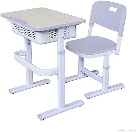 子供研究机椅子セット 子供の勉強机の椅子のテーブルセットの子供のアートテーブルセットのワークステーションのためのTiltableテーブルそして椅子 (色 : 白, サイズ : Free size)