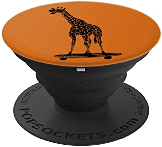 Giraffe on a Skateboard with Sunglasses - PopSockets Grip and Stand for Phones and Tablets