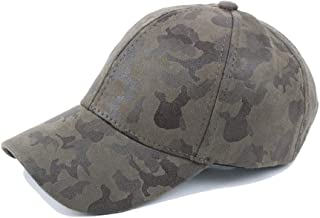HUIMEIS AU 2019 Baseball Cap Summer Ladies Cotton Camouflage Leather Pu Baseball Cap Visor Sports Cap Jungle Army Hat/*/- (Color : Green, Size : 56-60CM)