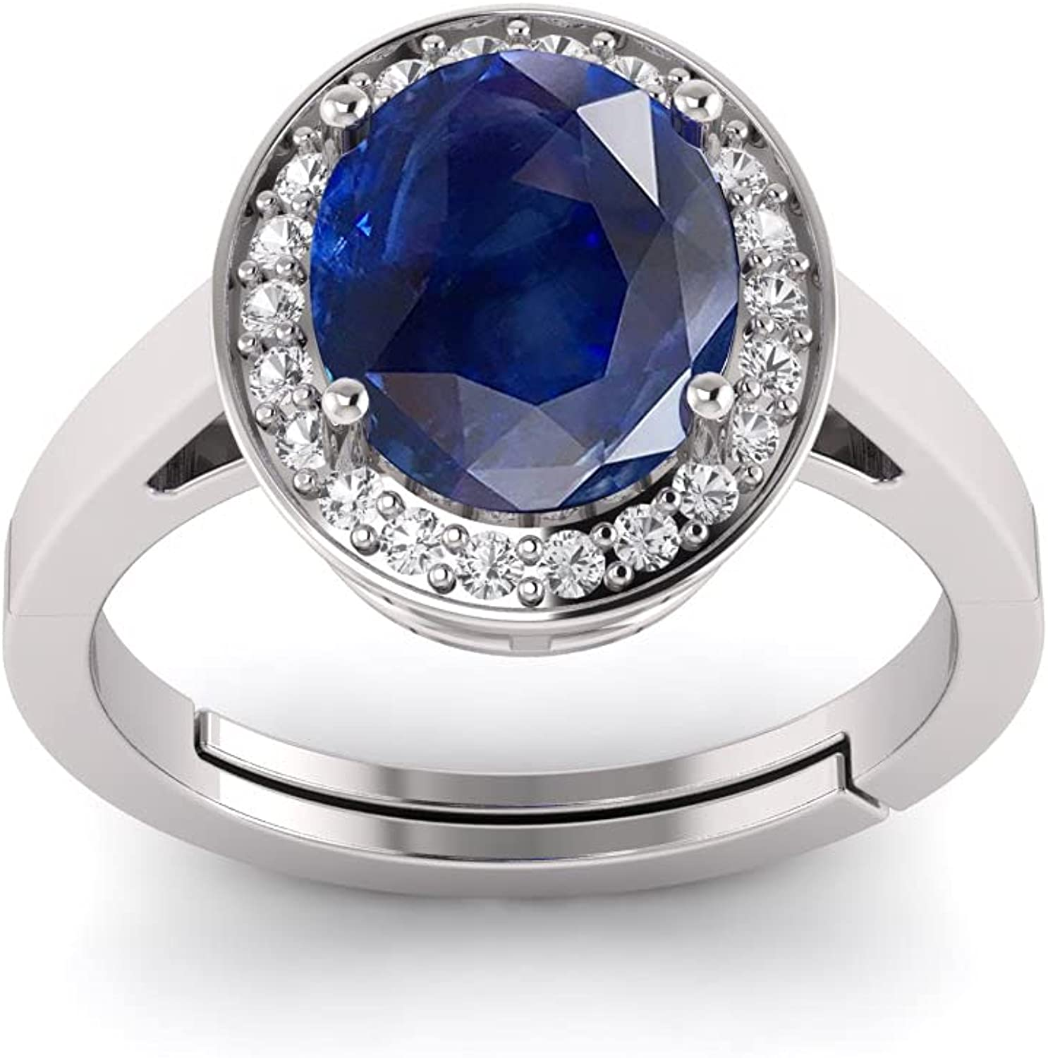 Sales of SALE items from new works LMDPRAJAPATIS 925 Sterling Silver Blue discount Women's Sapphire Natural