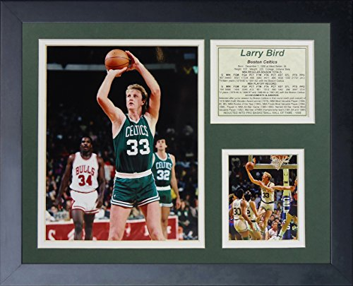 Larry Bird and Magic Johnson Boston Celtics Los Angeles Lakers NBA Framed 8x10 Photograph Posting Up