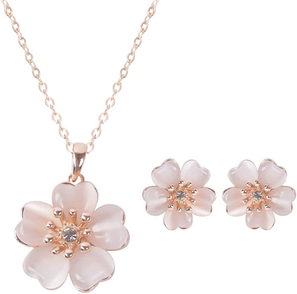 andy cool Vintage Creative Flower Shape Luxury Women Engagement Jewelry Sets Exquisite Diamond Necklace Earrings 3 Pcs Jewelry for Lover