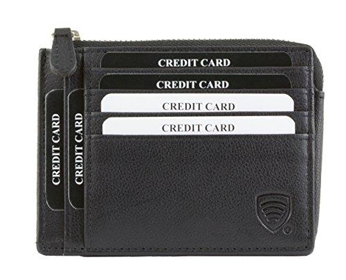 KORUMA RFID vera pelle - Portafoglio - Borsellino - Carta Porta - Portamonete - Portafoglio - borsa (KIT-28NBL)