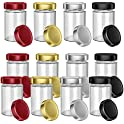 12-Sets of DROLE 8oz Thick Glass Jars with Lids