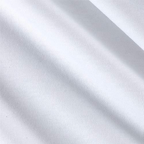 Fabric Merchants Cotton Jersey Knit Solid, Yard, Optic White
